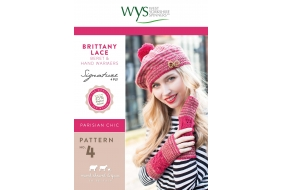 .Signature Style - Brittany Lace Beret and Hand warmers