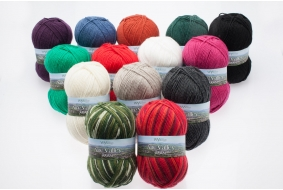 Aire Valley Aran - Wool Rich Blend 75% Wool 25% Nylon - Machine Washable - Excellent Value!
