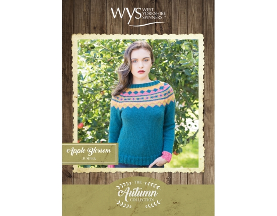 .Bluefaced Leicester Autumn Collection - Apple Blossom Jumper