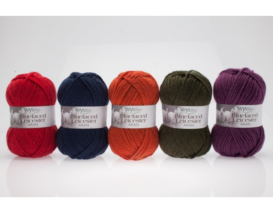 100% Aran Bluefaced Leicester Yarn - Autumn Shades