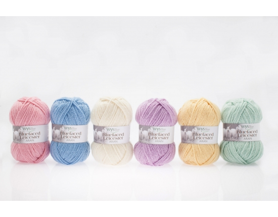 100% Bluefaced Leicester Yarn - Aran - Pastel Shades