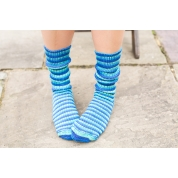 Luxury Bluefaced Leicester socks - Blue Lagoon