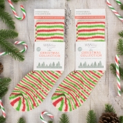 Bluefaced Leicester Luxury Socks - Candy Cane