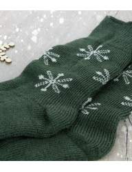 Luxury Bluefaced Leicester Snowflake Socks