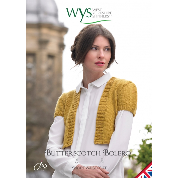 Free Butterscotch Bolero Pattern West Yorkshire Spinners