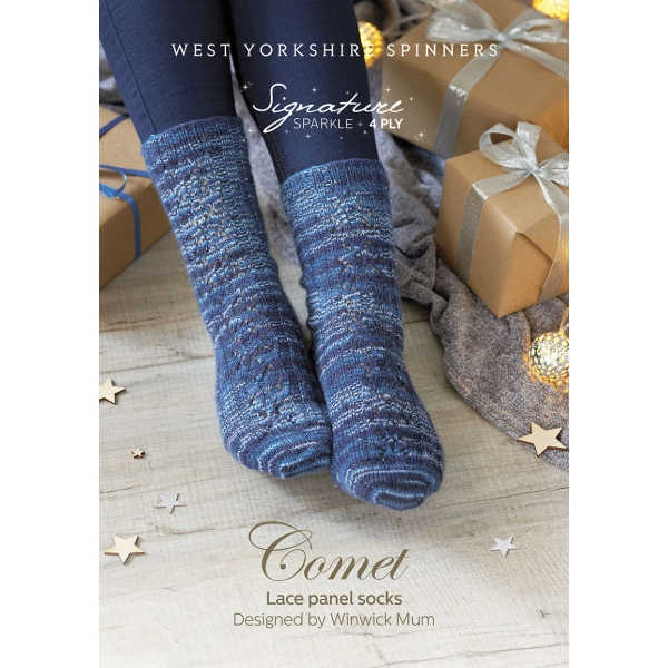 Christmas Comet Where 2020 Signature 4ply – Christmas 2020   Comet Lace Panel Socks Free