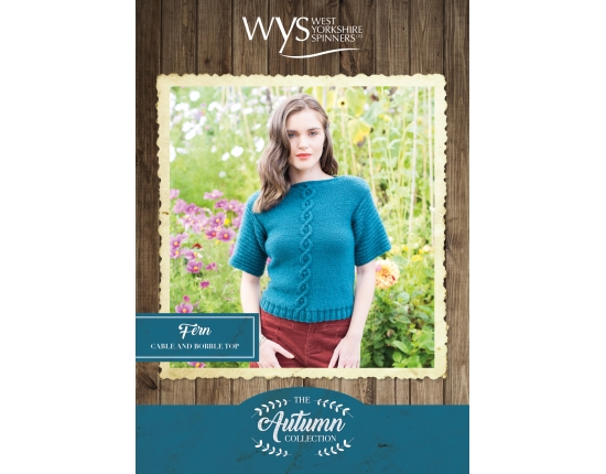 .Bluefaced Leicester Autumn Collection - Fern Cable and Bobble top