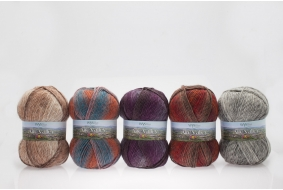 Aire Valley Aran Fusions - Wool rich blend - 75% Wool in a stunning range of harmonising colours all in one ball
