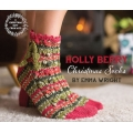 Signature 4ply Festive Holly Berry Socks free pattern
