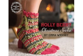 *Free* Christmas Holly Berry Sock Pattern