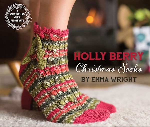 Free* Christmas Holly Berry Sock Pattern - West Yorkshire Spinners ...