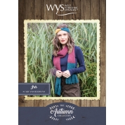 .Bluefaced Leicester Autumn Collection- Iris scarf and headband