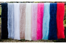 Super lightweight brushed Mohair yarn