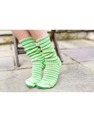 Luxury Bluefaced Leicester socks -Mojito