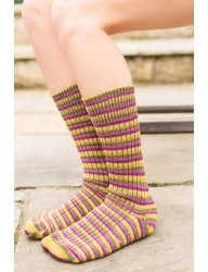 Luxury Bluefaced Leicester Socks - Passion fruit Cooler
