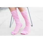 Luxury Bluefaced Leicester socks - Pink Flamingo