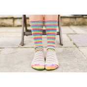 Luxury Bluefaced Leicester Socks - Rum Paradise