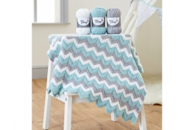 Bo Peep DK - Knitted Zig Zag Blanket Digital Pattern