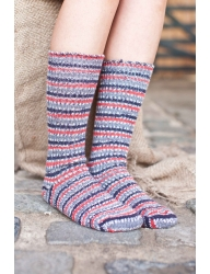 Bluefaced Leicester Country Sock Collection - Birds -Bullfinch