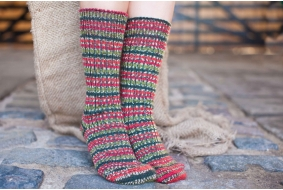 Bluefaced Leicester Country Sock Collection - Special Edition Holly Berry
