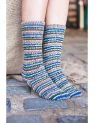 Bluefaced Leicester Country Sock Collection - Birds -Mallard
