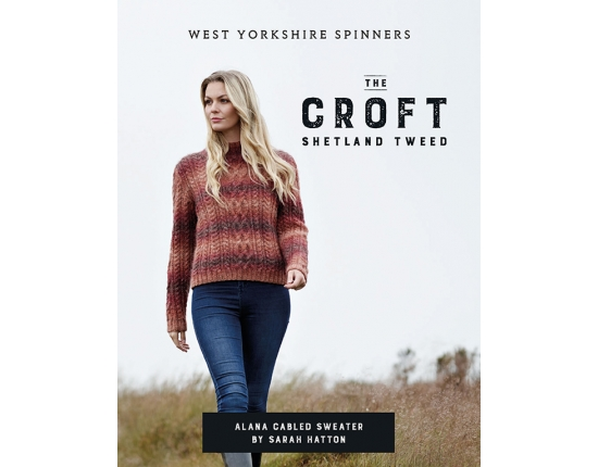 The Croft – Wild Shetland – Alana Cabled Sweater Single Pattern
