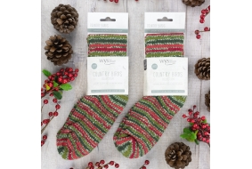 Bluefaced Leicester Luxury Socks - Holly Berry