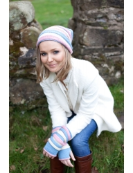 *FREE* Floppy Ridged Beany Hat & Mitts