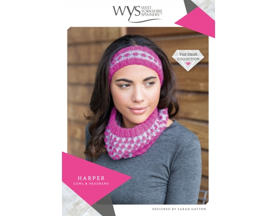 ..Wensleydale Gems Collection - Harper Cowl & Headband..