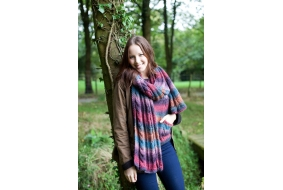 Aire Valley Aran Fusions Scarf.