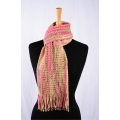 Bluefaced Leicester Scarf - Spring Flowers / Rose