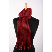 Wool – Nylon Scarf - Red / Black